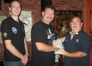 Platform Tavern landlord Stewart Cross receives a 2013 Good Beer Guide