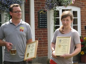 Presentation to Flowerpots Brewery - David Mackie and Catherine Bate